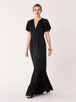 Diane von Furstenberg Josefine Burnout Gown