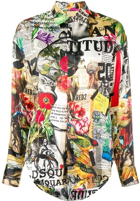 DSQUARED2 Printed Button Shirt