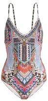 Camilla Hani Heaven-print scoop-back swimsuit