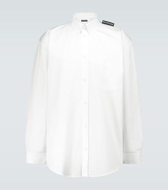 Balenciaga Tab long-sleeved cotton shirt