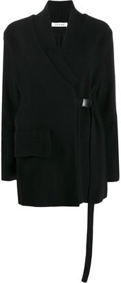 Falke deep V-neck buckled sweater
