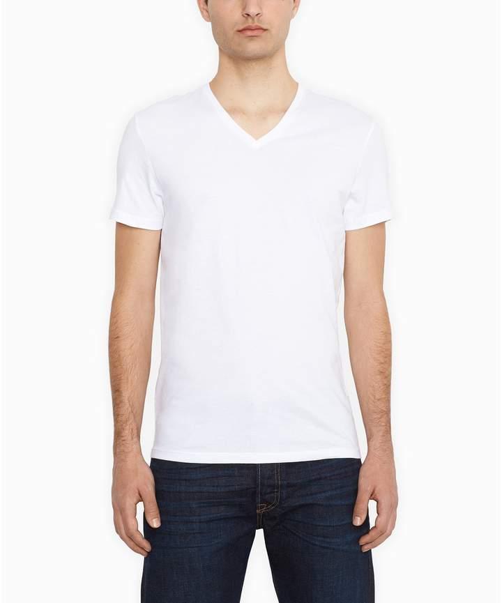 3d61d54f7992 Mens Slim Fit T Shirts V-neck White - ShopStyle UK