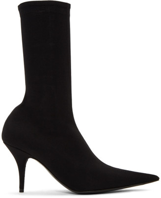 Balenciaga Black Jersey Knife Booties