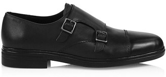 Bally Neo Double Monk Strap Leather Derby Shoes