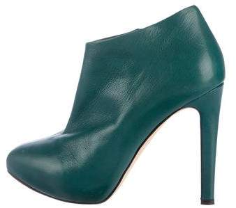 Giuseppe Zanotti Leather Semi-Pointed Ankle Boots