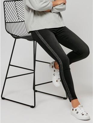 M&Co Sonder Studio sparkle side stripe jeans