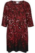Junarose Printed Red Dress