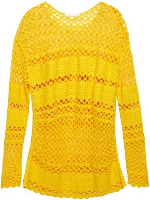 Maje Open-knit Cotton Sweater