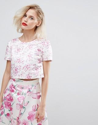 Horrockses Blossom Print Crop Top Co Ord-Multi
