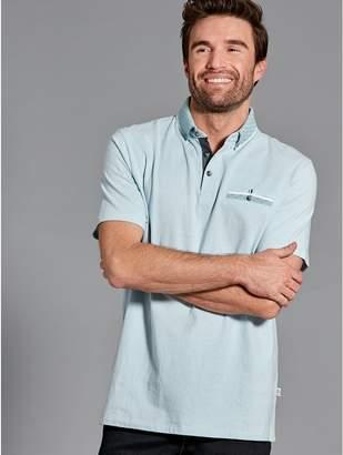M&Co Jacquard collar polo shirt