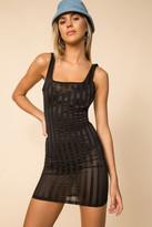 superdown Sheer Striped Mini Dress