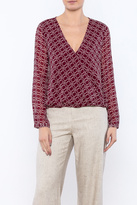 Cupcakes & Cashmere Cross-Front Blouse