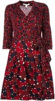 Diane von Furstenberg multi print bow dress