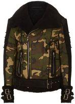 Balmain Camouflage Biker Jacket