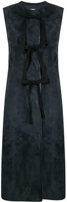 Jil Sander Bow-Embellished Sleeveless Coat