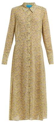 MiH Jeans Maggie Floral Print Silk Dress - Womens - Yellow Print