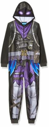 Artesania Cerda Boy's Pijama Dormilon Polar Fleece Fortnite Onesie Black (Negro C) 16 Years (Size: 16A)