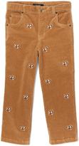 E-Land Kids Honey Brown Dog Corduroy Pants - Boys