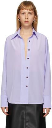 Eftychia Purple Closed Shirt