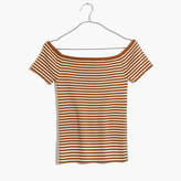 Madewell Off-the-Shoulder Sweater in Stripe