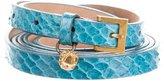 Alexander McQueen Python Wrap Belt