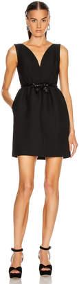 Miu Miu Bow Mini Dress in Black | FWRD