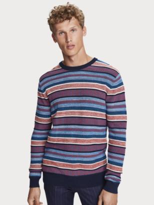 Scotch & Soda Lightweight structured knit pullover | Men