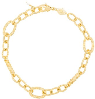 Anni Lu 18kt gold plated brass Unchain Me bracelet