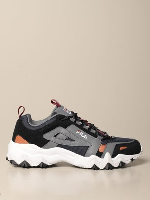 Fila Trail Wk Cb Sneakers In Suede And Ripstop Leather