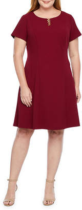 Alyx Plus Short Sleeve Fit & Flare Dress