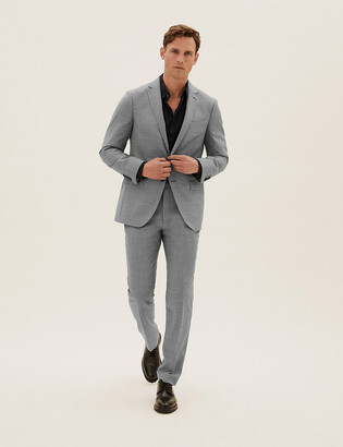 Marks and Spencer Tailored Wool Check Jacket