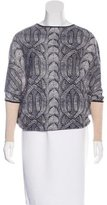 Yigal Azrouel Cable Knit Print Dolman Sleeve Top