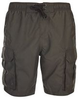 Burton Mens Khaki Cargo Swim Shorts
