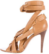 Tory Burch Leather Wrap-Around Sandals