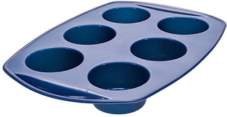 Scullery Kolori Silicone 6 Cup Muffin Tray Navy Blue