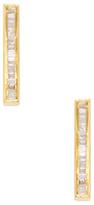 Maiyet 18K Yellow Gold & 0.34 Total Ct. Diamond Baguette Bar Earrings