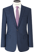 Richard James Mayfair Puppytooth Slim Suit Jacket, Blue