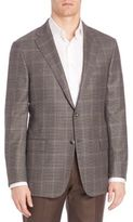 Hickey Freeman Plaid Wool Blazer
