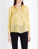 The Kooples Tassel collar silk blouse