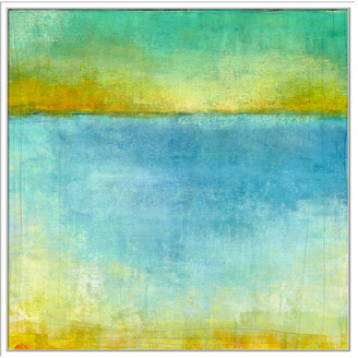 Jonathan Bass Studio Abstract Sea Ii, Decorative Framed Hand Embellished Canvas