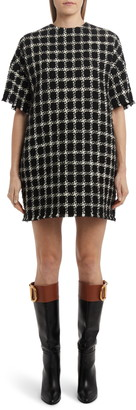 Valentino Houndstooth Tweed Shift Dress