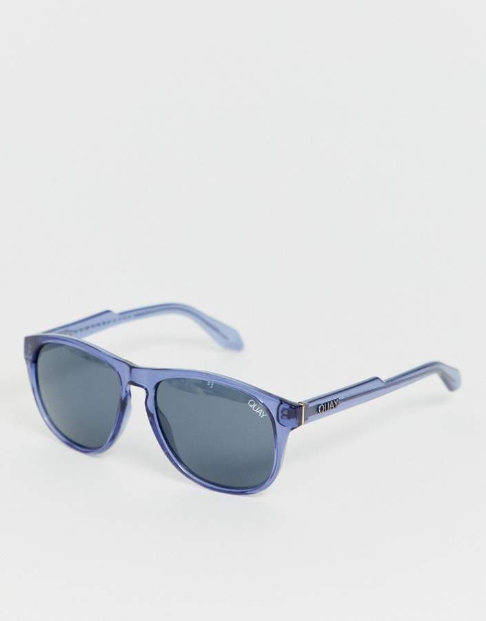 Quay lost weekend retro sunglasses in blue