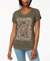 Style&Co. Style & Co Graphic Cutout T-Shirt, Created for Macy's