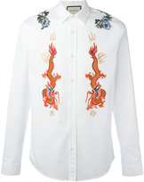 Gucci Duke embroidered shirt - men - Cotton/Polyamide/Polyester - 14