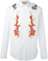 Gucci Duke embroidered shirt - men - Cotton/Polyamide/Polyester - 15 1/2