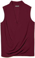 Vince Camuto Sleeveless Wrap Front Top