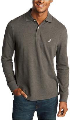 Nautica Men Long Sleeve Logo Polo Shirt