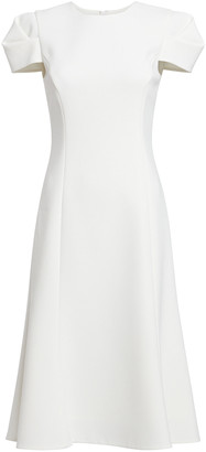 Jason Wu Collection Short Sleeve Crepe Midi Dress