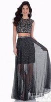 Terani Couture Metal Sequin Two Piece Homecoming Dress