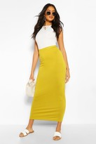 boohoo Helena Basic Contrast Waist Jersey Maxi Skirt